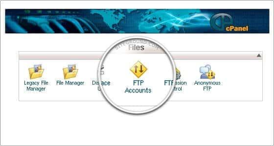 Opprette FTP konto