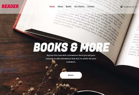Nettsted om bøker