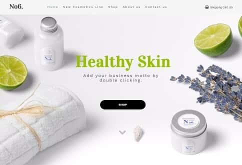 Designmal for en butik som selge kroppspleie produkter.